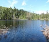 Prášilské jezero ze Slunečné u Prášil