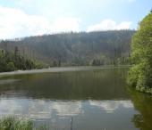 Stožec, Plešné jezero a Nová Pec