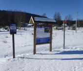 Borová Lada - nástupní místa do běžeckýh stop