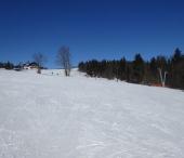 Ski areál Mitterdorf a Kubova Huť, vyhlídka na Alpy.