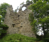 Strážný, zřícenina hradu Kunžvart