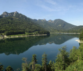 Jezero Schwarzensee Alpy