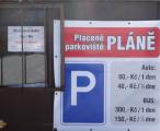 Parkoviště Pláně (foceno v roce 2015)