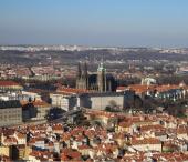 Pražský hrad z hlavního nádraží