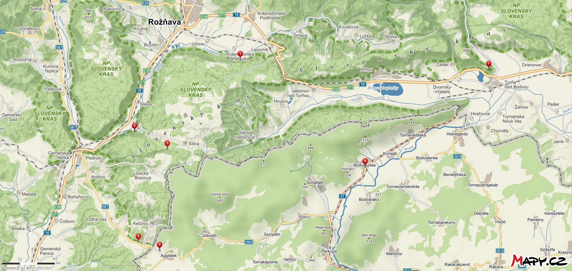Mapa se špendlíky