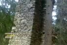Zřícenina hradu Hus a řeka Blanice
