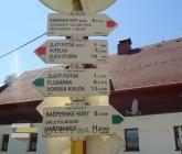 Rozcestí Kašperské Hory a poutní kaple P. Marie Sněžné