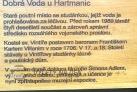 Dobrá Voda - muzeum Dr. Šimona Adlera