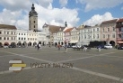 Náměstí Přemysla Otakara II. a následně Biskupská ulice