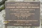 Třístoličník - kaple sv. Jana Nepomuka Neumanna