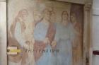 Jeden ze dvou freskových obrazů.