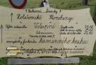 Cedule Jihočeského Stonehenge.