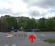 Křižovatka před parkovištěm